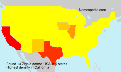 Surname Zigala in USA