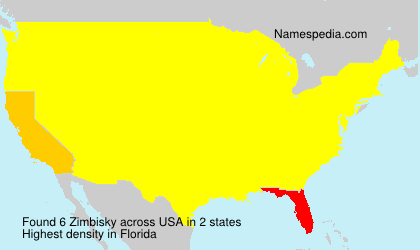 Surname Zimbisky in USA