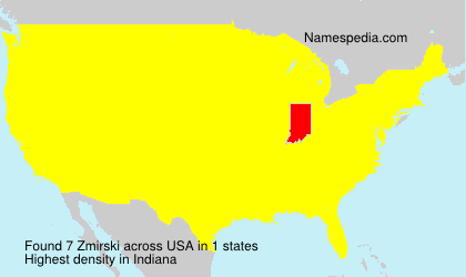 Surname Zmirski in USA