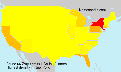 Surname Zory in USA