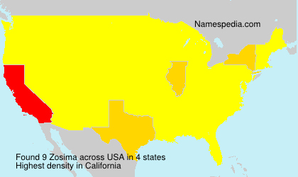 Surname Zosima in USA