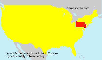 Surname Zotynia in USA