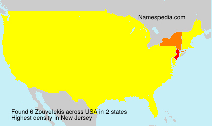 Surname Zouvelekis in USA