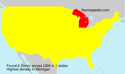 Surname Zsinor in USA