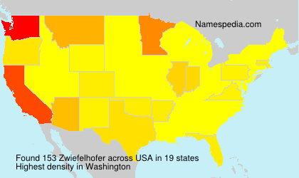 Surname Zwiefelhofer in USA
