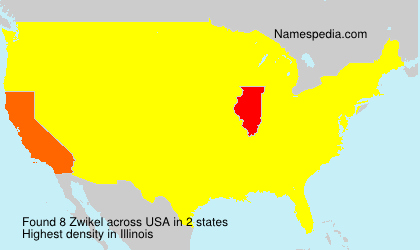 Surname Zwikel in USA
