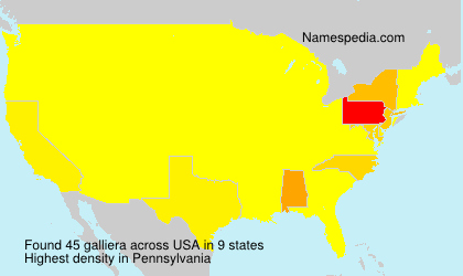 Surname galliera in USA