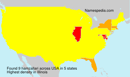 Surname hamzallari in USA