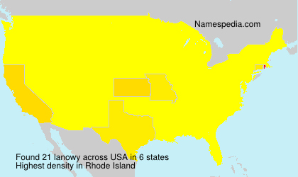 Surname lanowy in USA