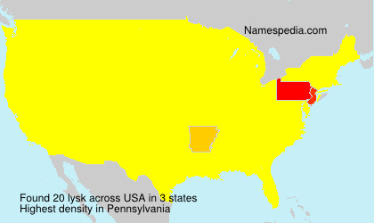 Surname lysk in USA
