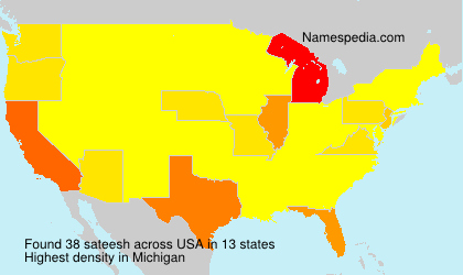 Surname sateesh in USA